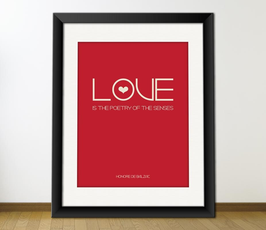Love Is The Poetry Of The Senses, Digital Printable Typography Art for Posters, Wall Decoration, Download and Print JPEG  Image