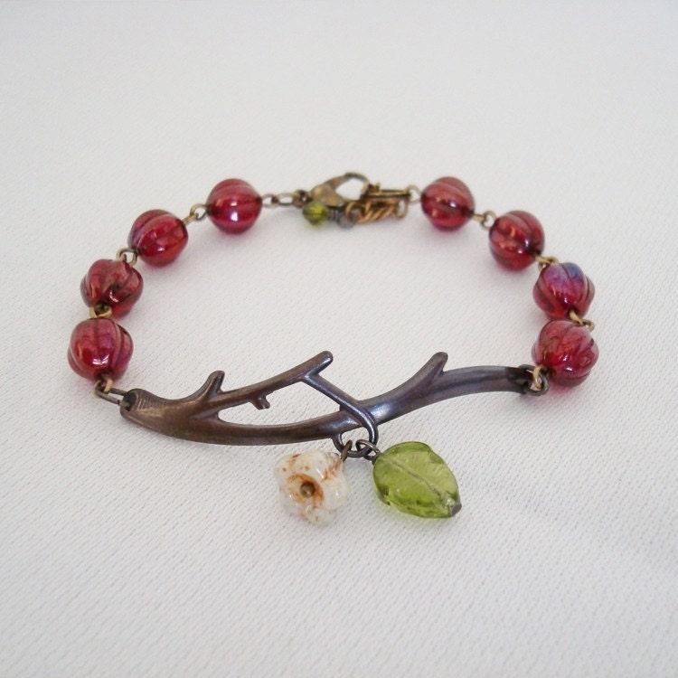 Ruby Garden Twig Bracelet