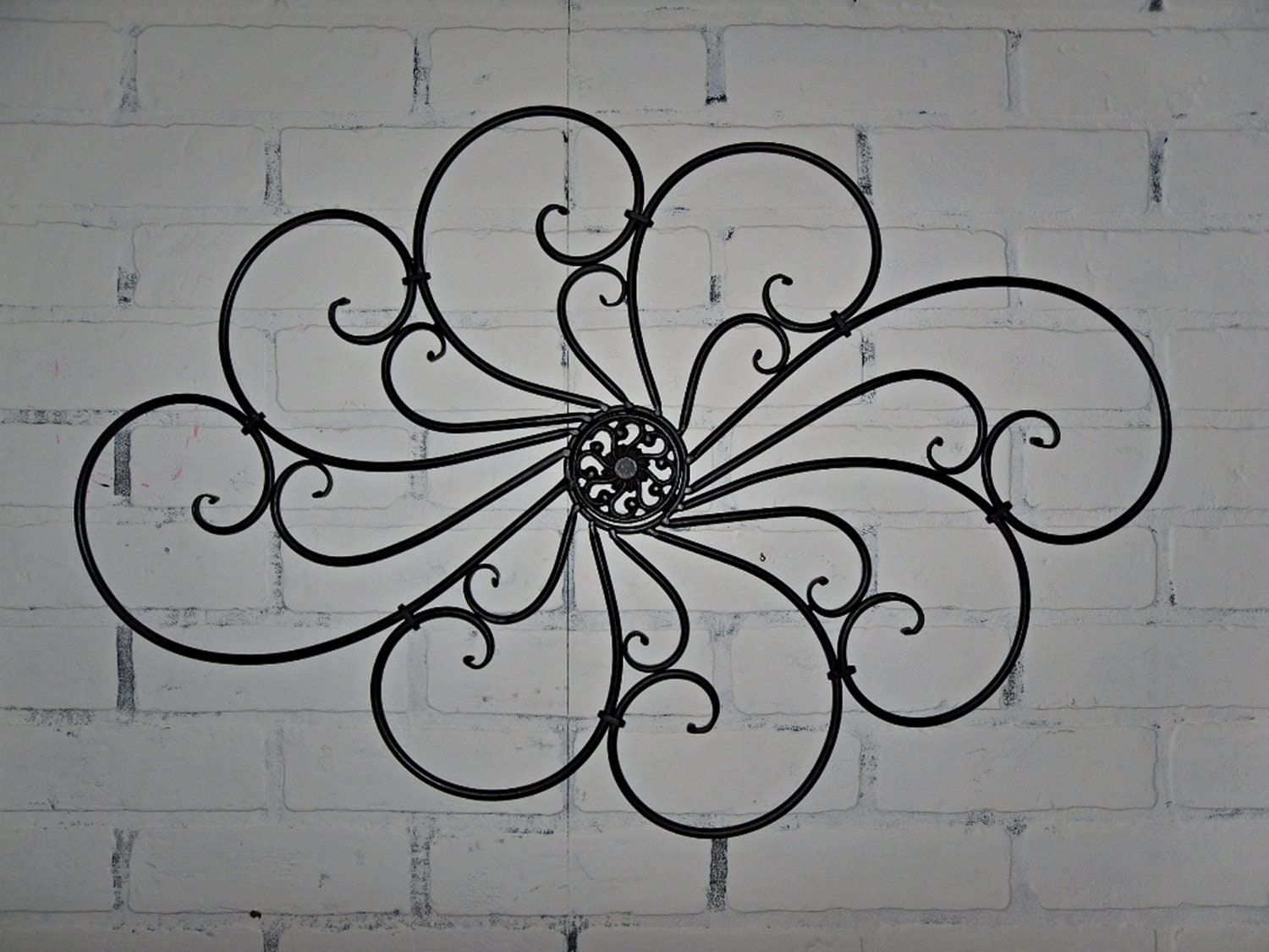 Items Similar To Wrought Iron Wall Decor Wall Hanging Indoor Outdoor Patio Black Wall
