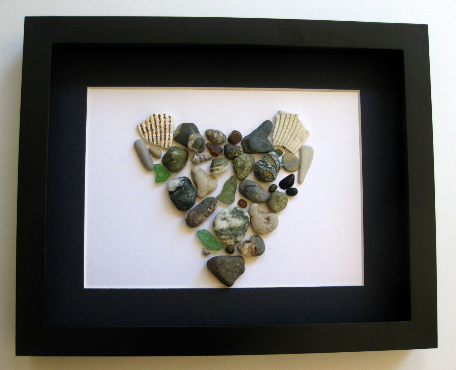 Couple's Heart Themed Art - Personalized Art Work - Unique Home Decor - OOAK - SticksnStone
