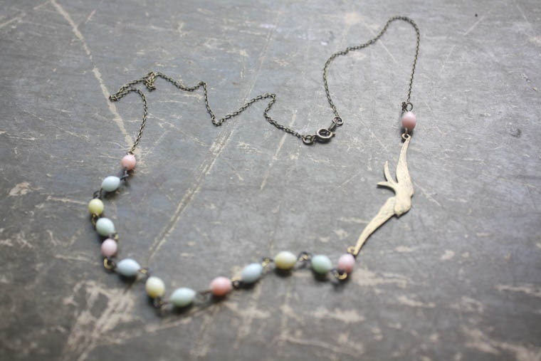 Bird & Bead Necklace