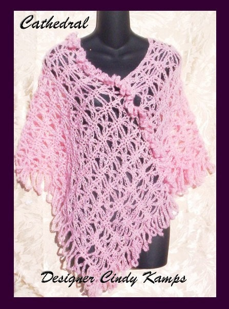 Crochet Patterns Etsy : Cathedral Poncho Crochet Patterns by crochetbayboutique on Etsy