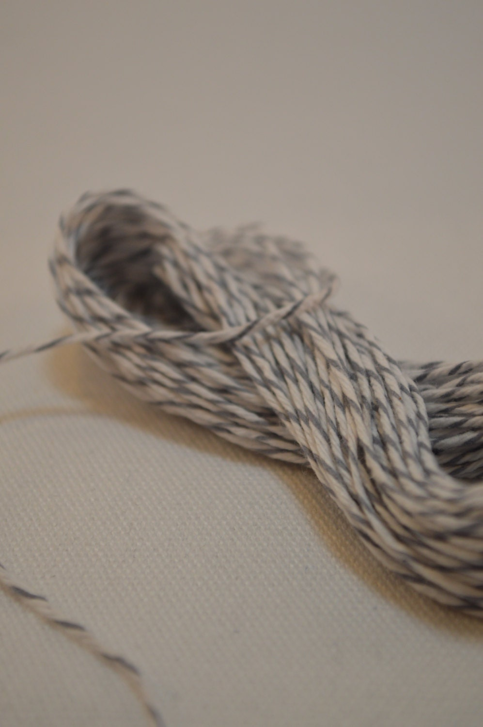 Bakers Divine Twine 100% Cotton 10m (10.9yds) Oyster Grey and White - LoveFromLittleAcorns