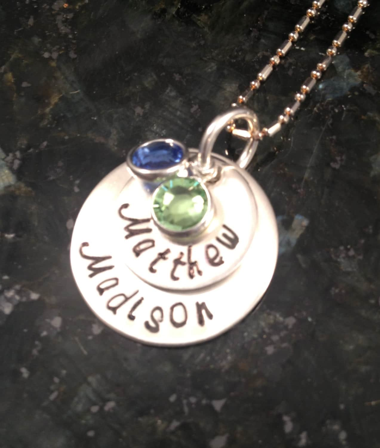 s day jewelry personalized sterling by thewagtaggery