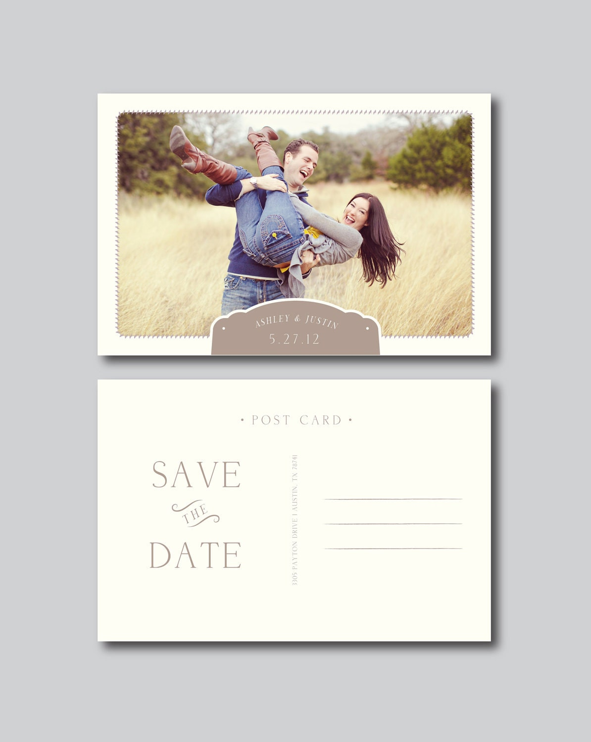 save the date postcard photography template by designbybittersweet. Black Bedroom Furniture Sets. Home Design Ideas