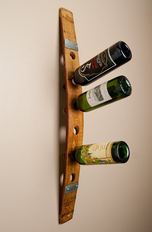 Banded 6 Bottle Wall Wine Rack By Alpinewinedesign On Etsy