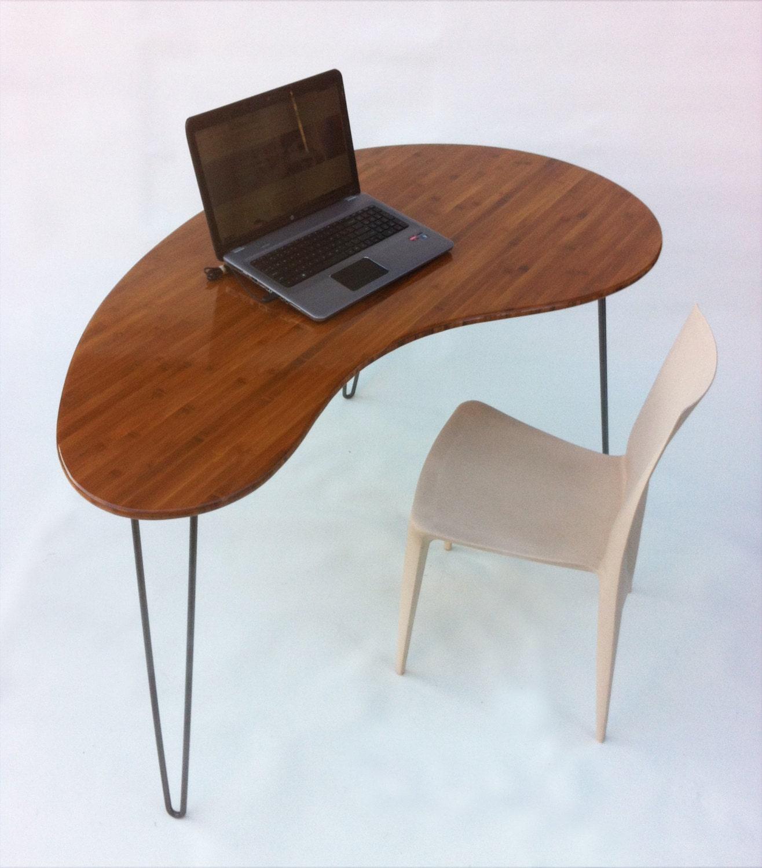 Mid Century Modern Coffee Table Kidney Bean Shaped Atomic: Mid Century Modern Desk Kidney Bean Shaped By
