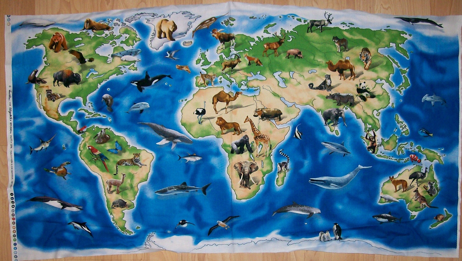A Wonderful World Atlas With Animals World By