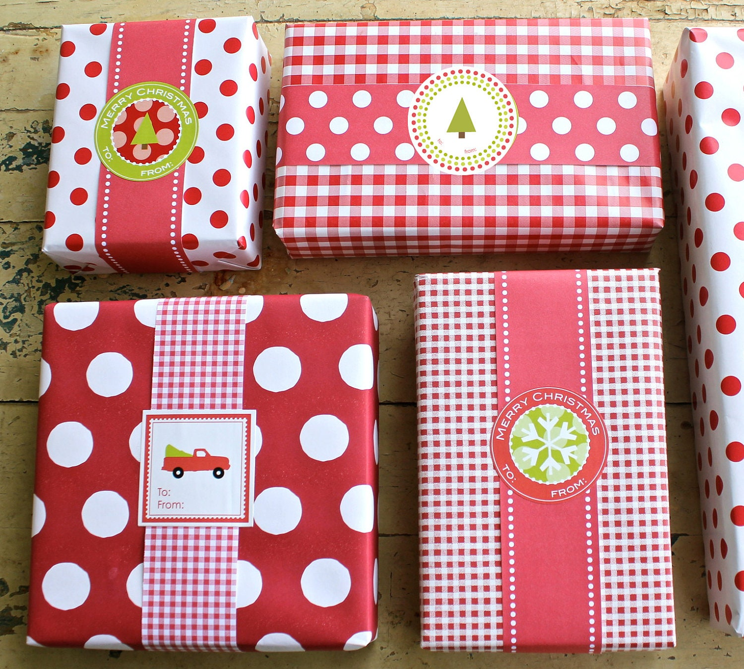 Variety Pack of Christmas Labels