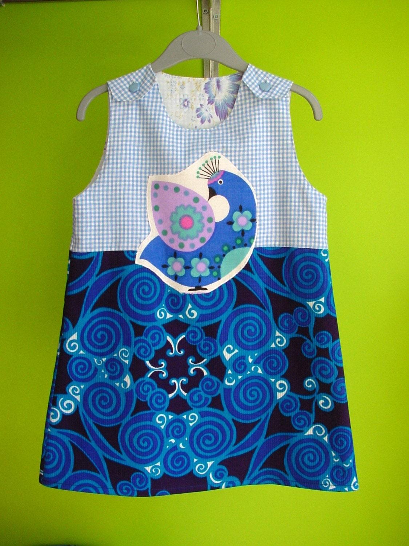 kinchi Peacock dress, size 3