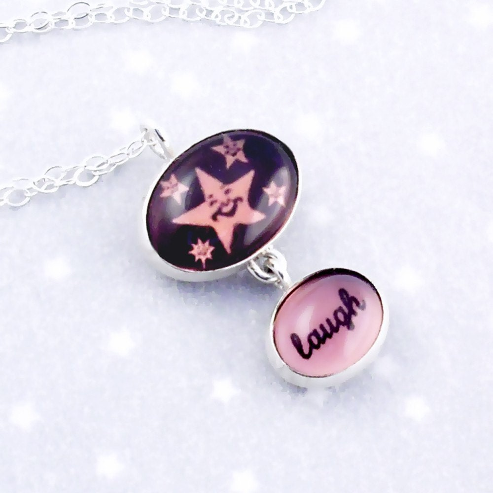 Laugh Necklace with Picture of Laughing Star