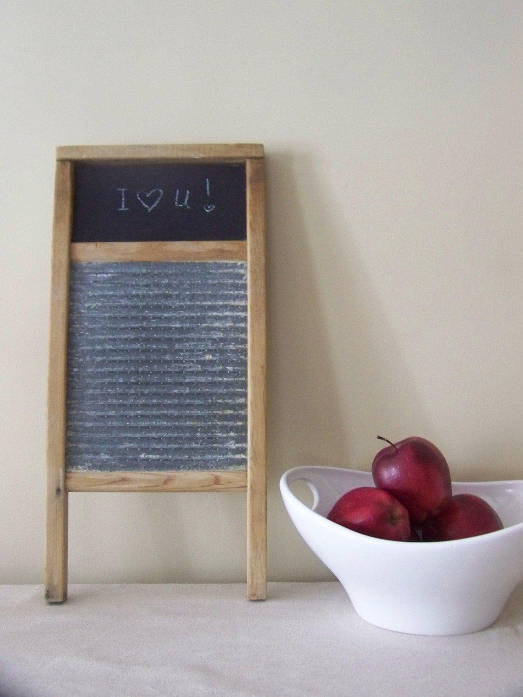 Antique washboard/ chalkboard