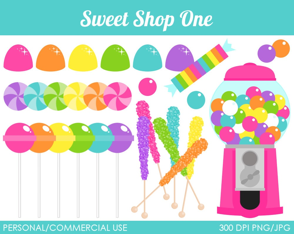 Sweet Shop 1 Clipart Digital Clip Art Graphics by MareeTruelove