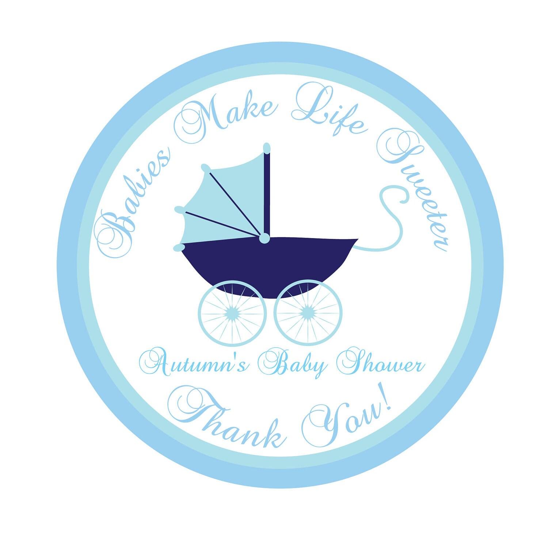 personalized stickers pram baby shower baby by simplysweetness