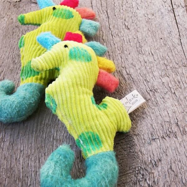 Organic Baby Rattle Seahorse Teether by ecoleeko on Etsy