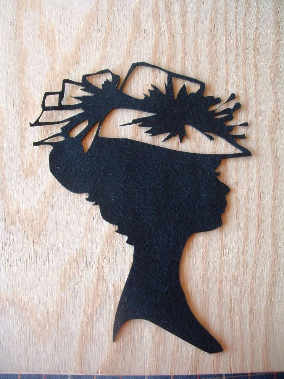 Black felt silhouette