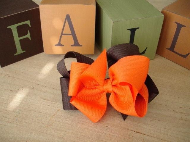 Big Fall Bow (also available in 30 different colors and patterns)