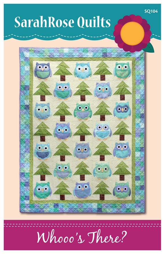 Whooo's There -- Owls Machine Applique Pattern