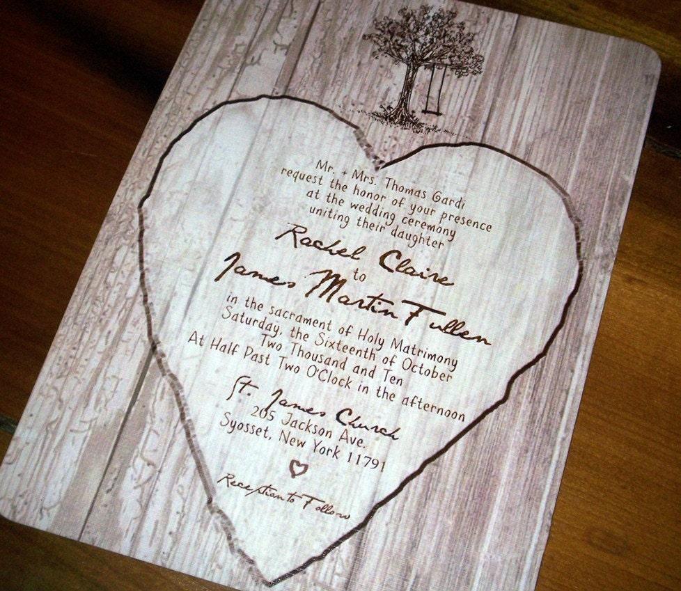 Elegant Woods Wedding Invitations - DEPOSIT