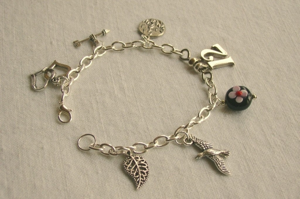 The Hunger Games Inspired Katniss Charm Bracelet for Hunger Games fans