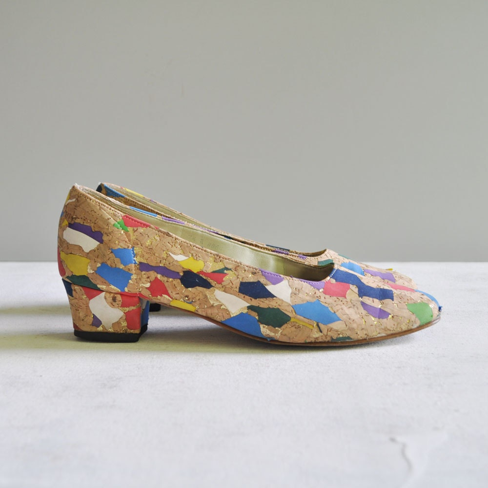 Vintage 80s CONFETTI Pumps by MariesVintage on Etsy from etsy.com