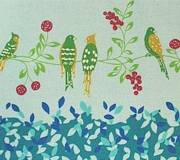 Echino by Etsuko Furuya - Bird Song Turquoise 1 yard
