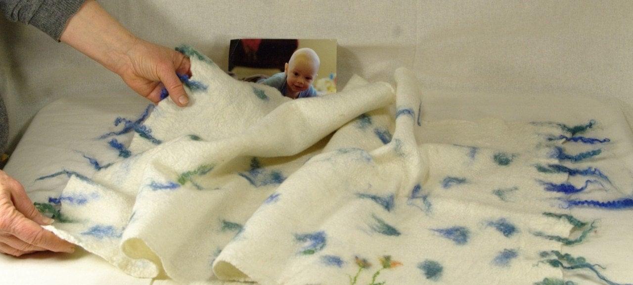 Baby Blanket Wet Felted By Geklara On Etsy Craftjuice