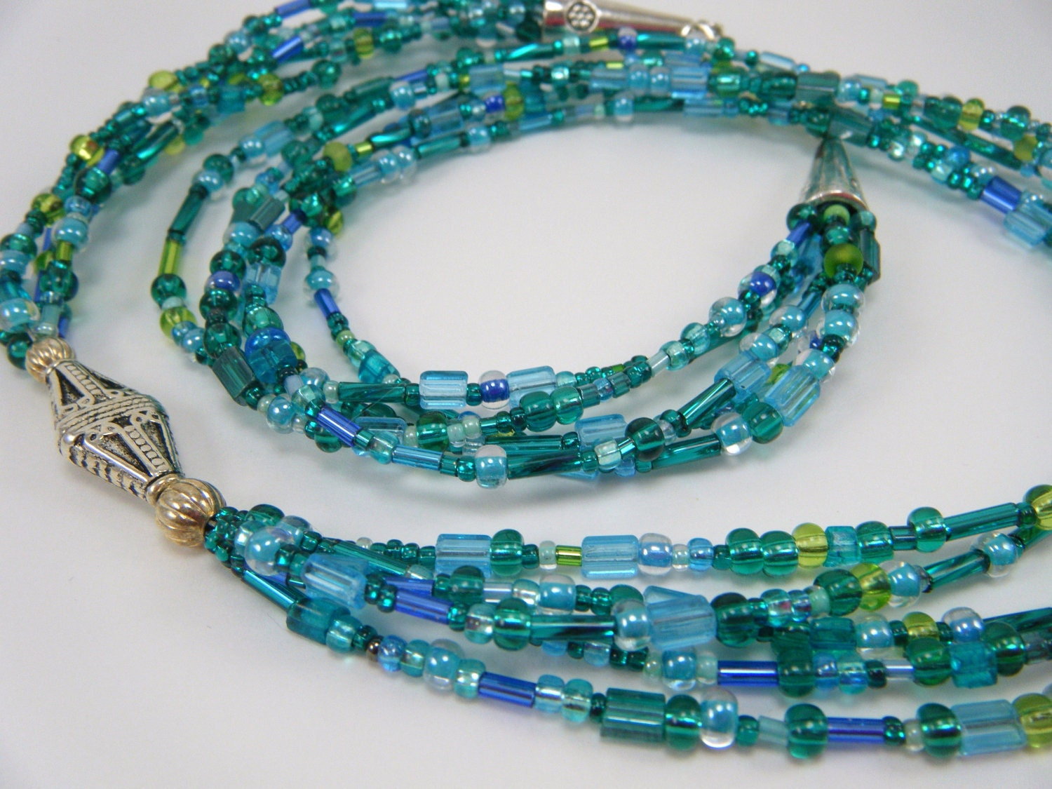items similar to beaded multi strand necklace seed bead