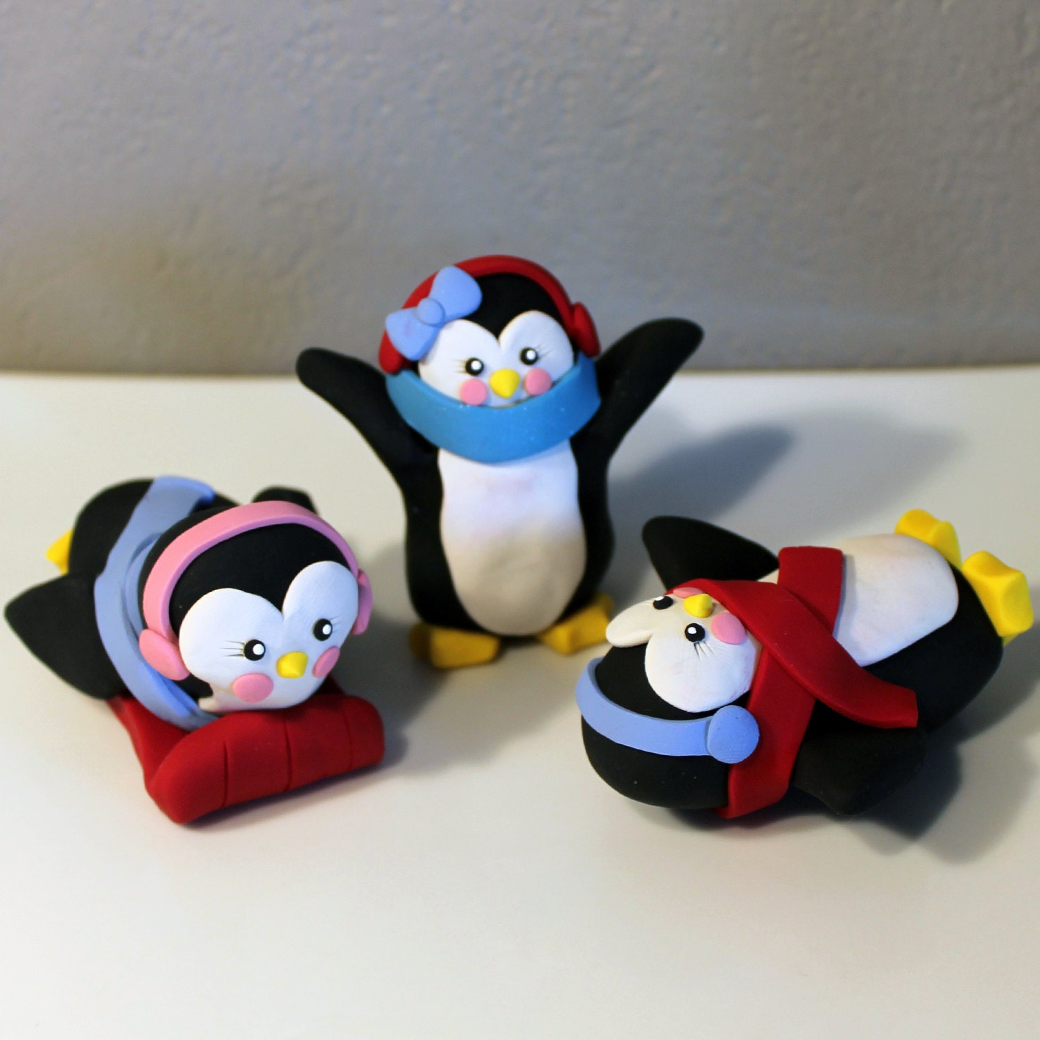 Custom Penguin Cake Toppers for Birthday or Baby by carlyace