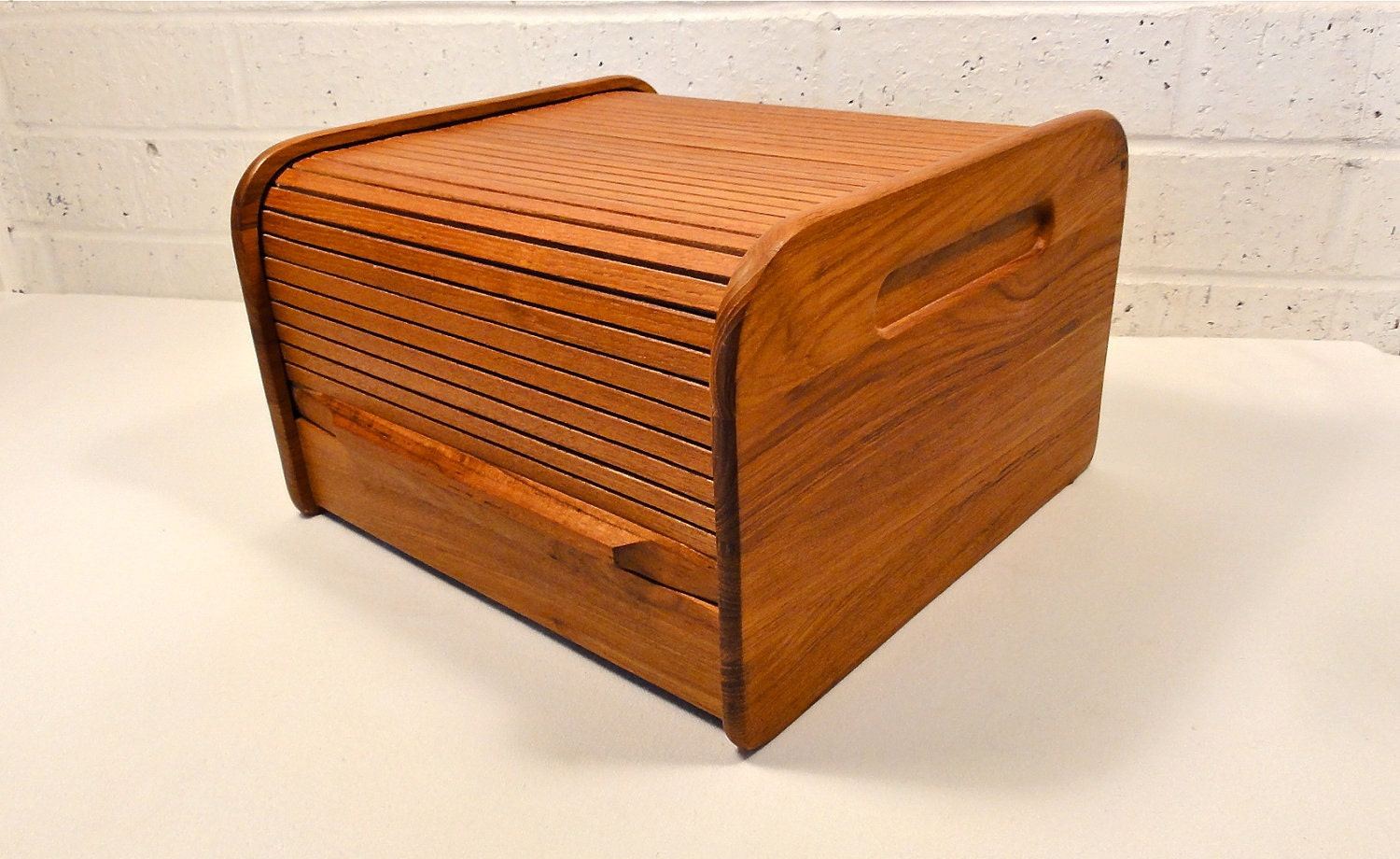 Vintage Teak Roll Top Desk Organizer By Bluebell On Etsy