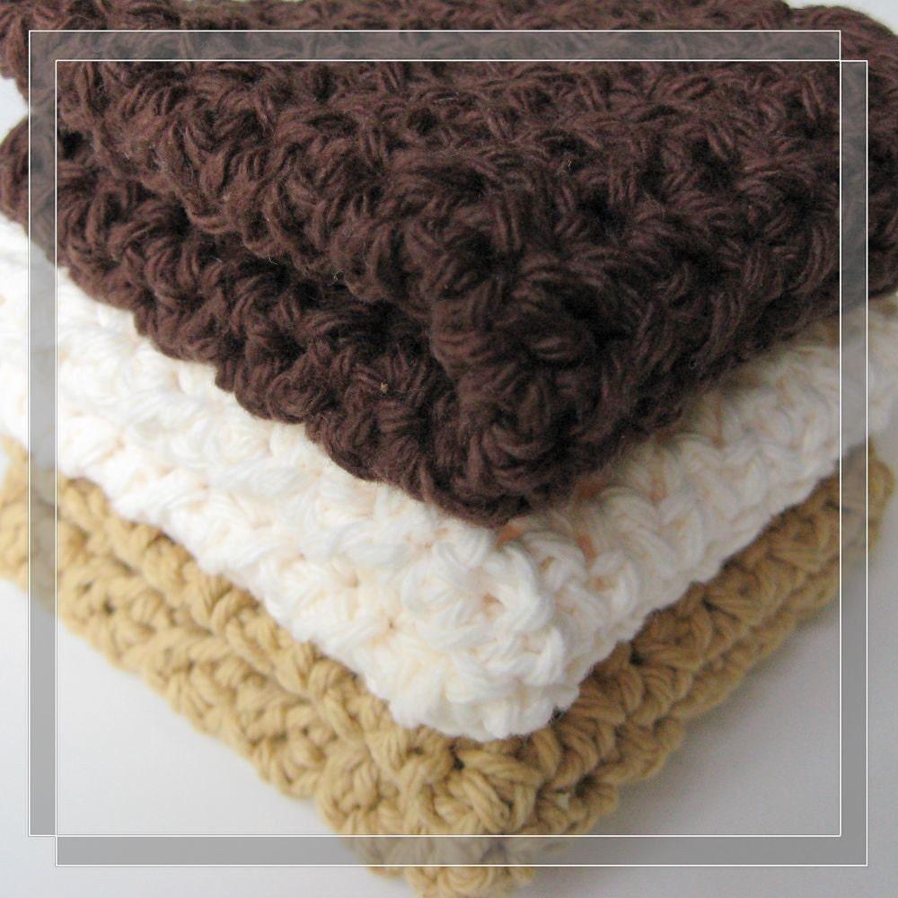 Pattern crochet dishcloth Free shipping by LilyKnitting on ...