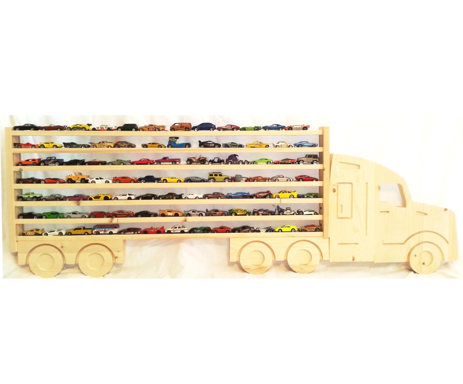 Large Wooden Semi Truck Hanging Storage Display by WhatAboutWood