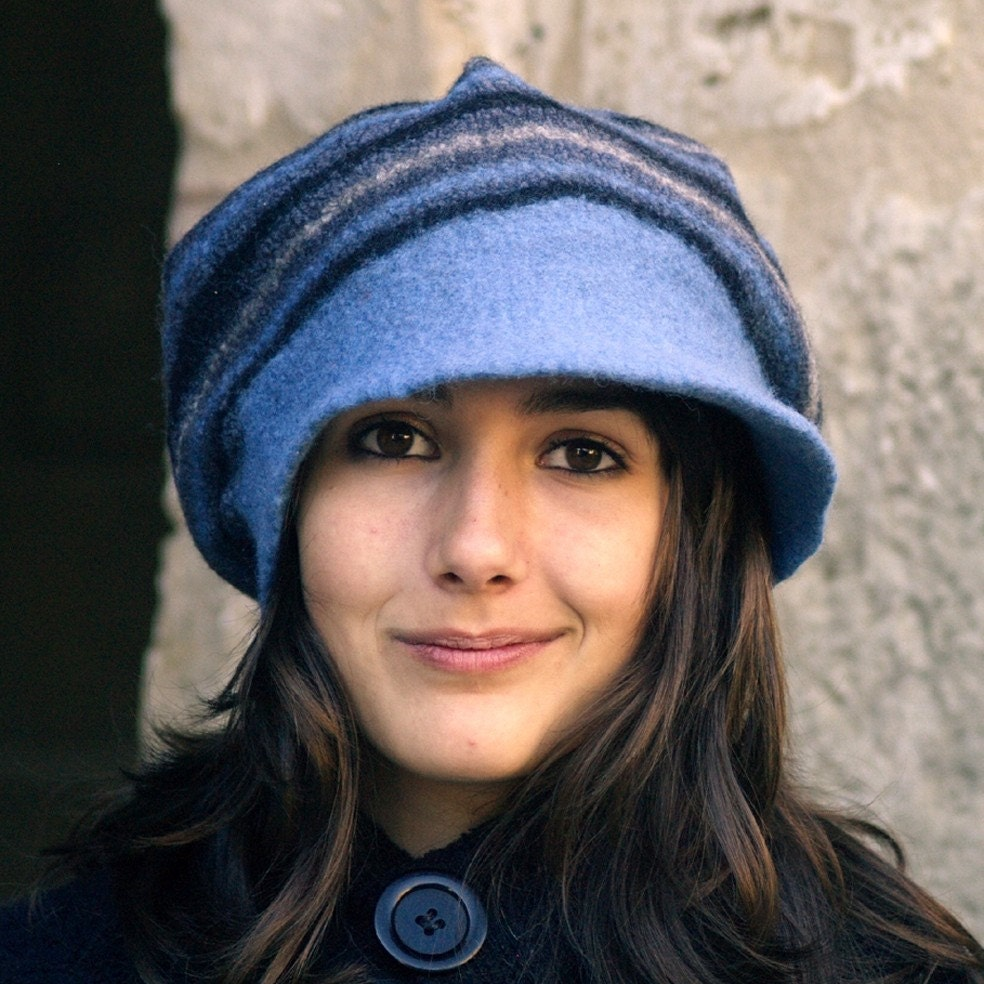 Felt casket rasta cap style Hat handmade in france Kimi