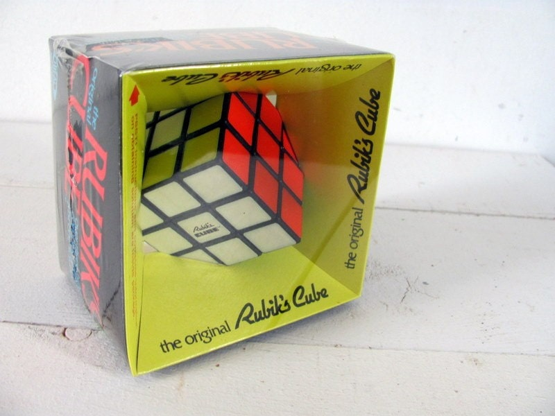 original vintage rubik 39 s cube by ideal by dirtybirdiesvintage. Black Bedroom Furniture Sets. Home Design Ideas