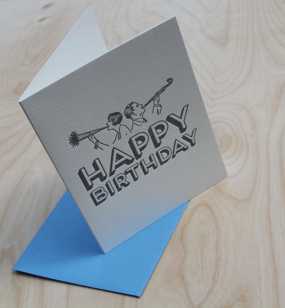 Happy Birthday the old fashioned way - WishboneLetterpress