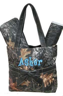 Diaper Bag Personalized Camouflage Camo Mossy Oak by parsik93