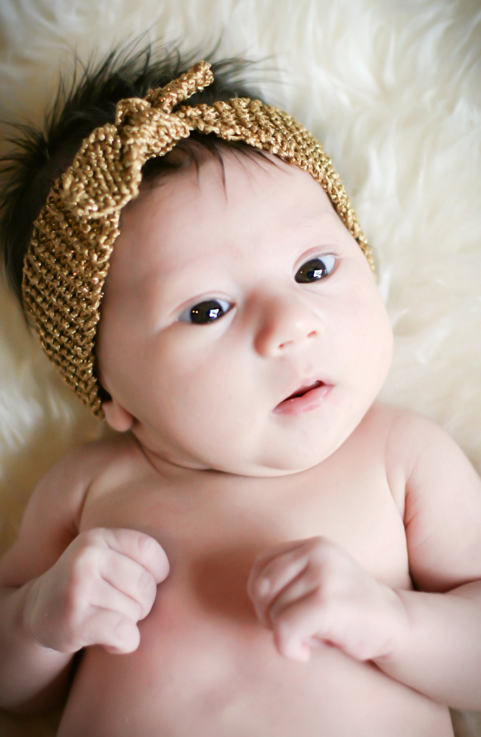 Knitting Headband For Baby : Turban knot knitted headband knitting pattern for