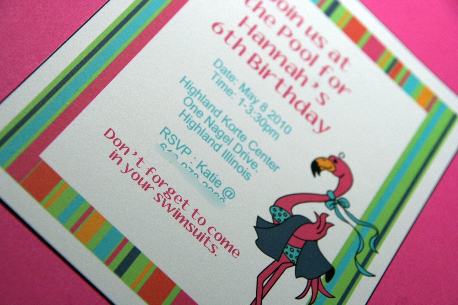 pool party invitations for girls. Mouseover the photos. 10