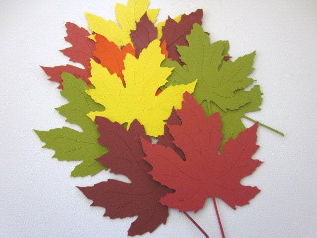 90 Large Fall Maple Leaves die cuts - PGTreasures