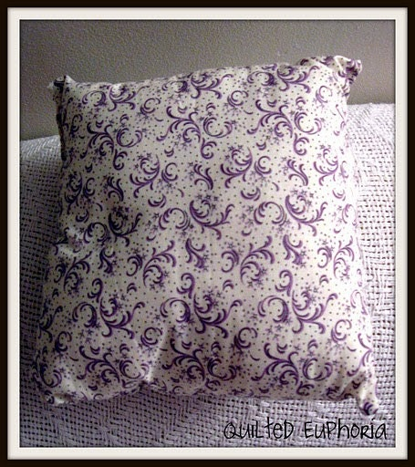 Travel Mini Size Pillow ---Purple Swirls