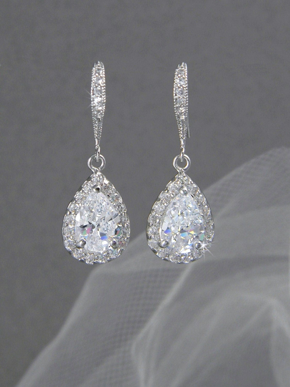Etsy Wedding Gift Jewelry : ... Wedding jewelry Swarovski Crystal Wedding earrings Bridal jewelry