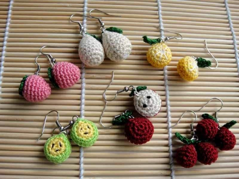 Crochet Pattern - FRUITY EARRING - Jewelry / Accessories