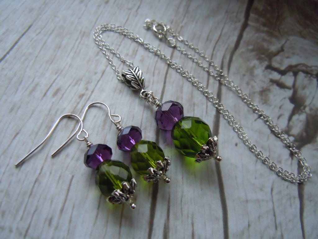 Scottish Wedding Gift For Bride : Scottish Thistle Necklace & Earring Set Celtic by BohemienneBelle