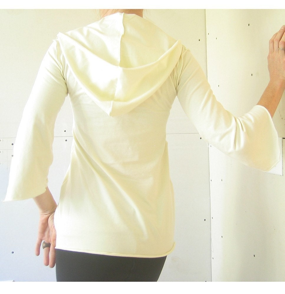 flared sleeve hoody