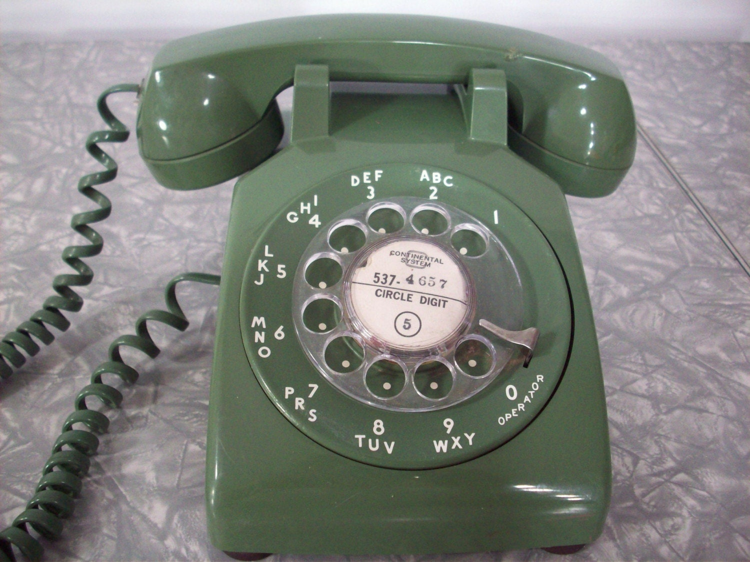 The Most Awesome Avocado Green WORKING Rotary Desk Phone