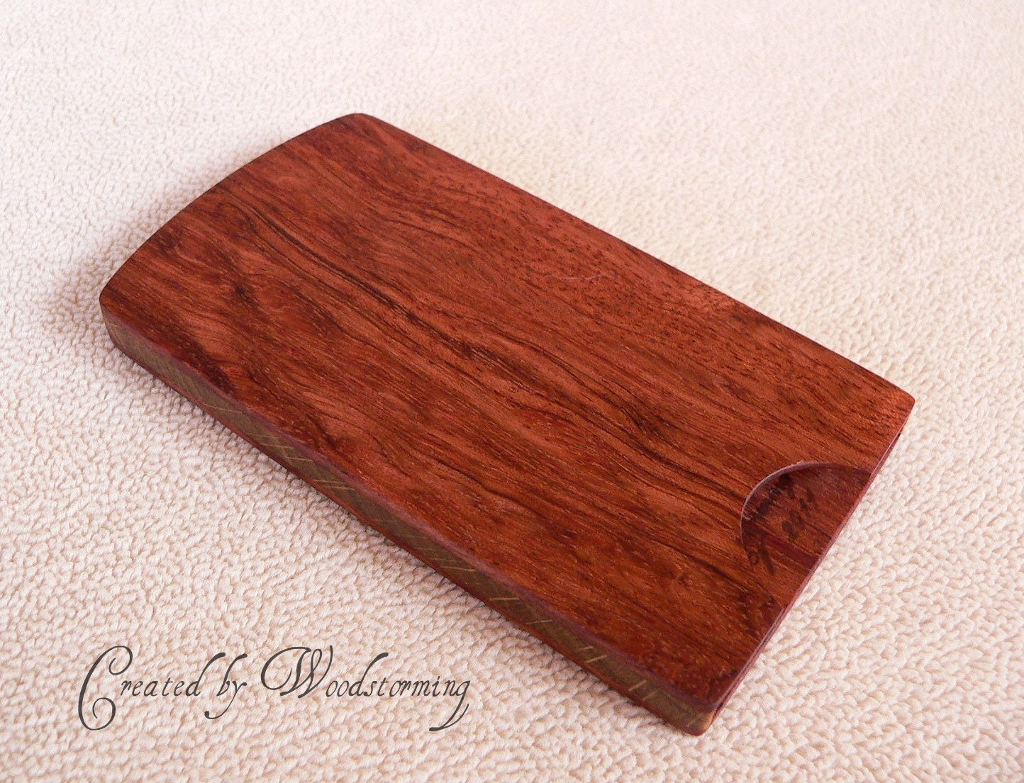 Handmade mahogany and oak business card case by Woodstorming