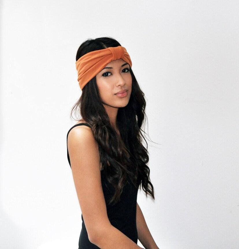 Turban headband - Rust jersey