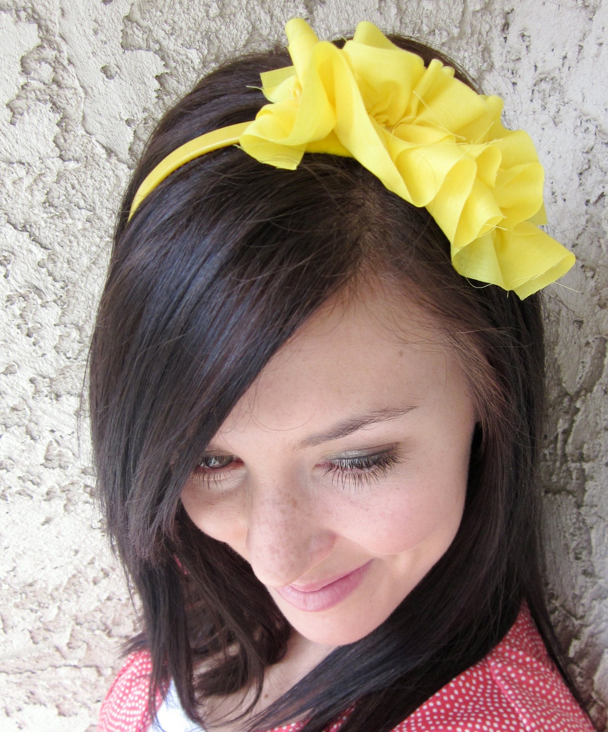 Double Ruffle Yellow Headband