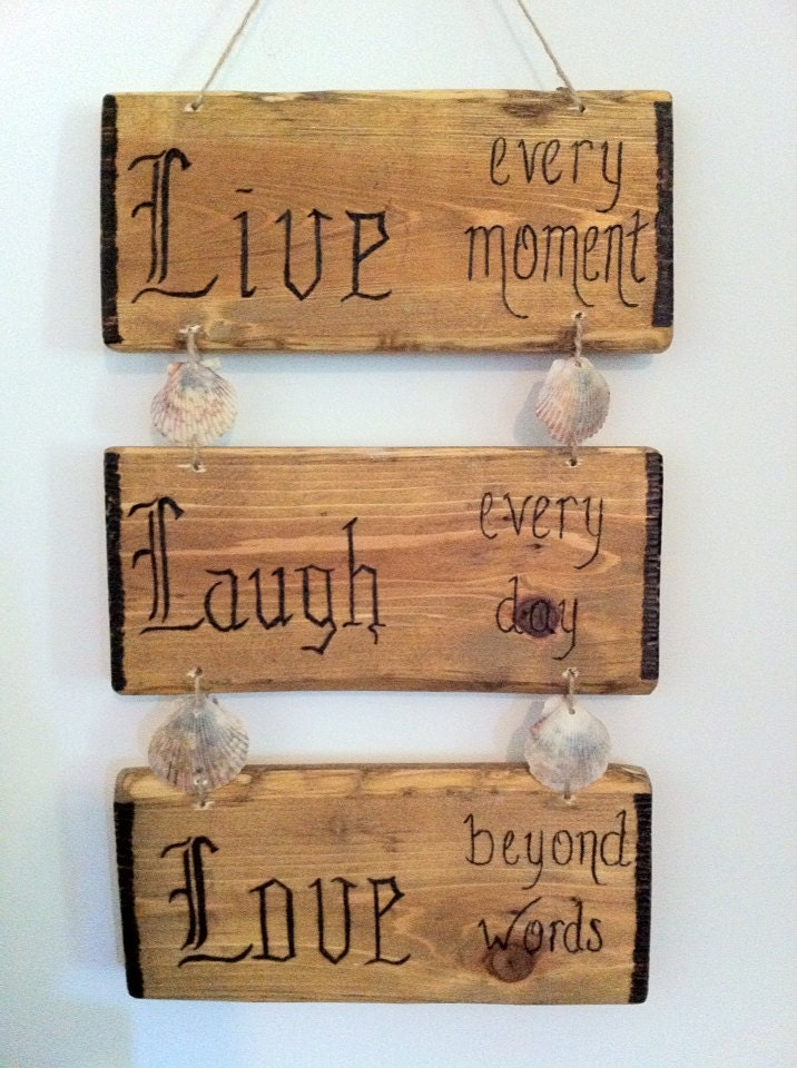 live laugh love rustic lodge decor by lodgedecornmore on etsy. Black Bedroom Furniture Sets. Home Design Ideas