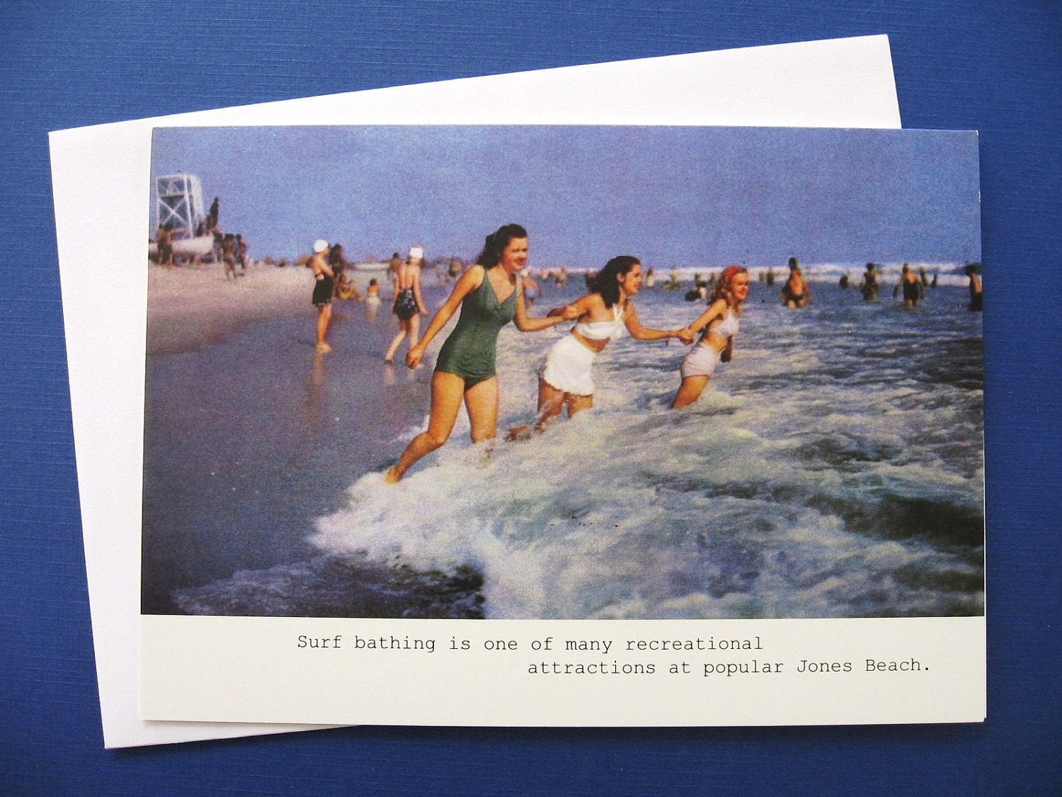 Vintage Jones Beach Blank Note Card, 5 x 7
